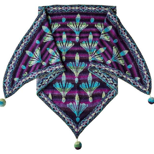 The Damask Lily Shawl / Turquoise